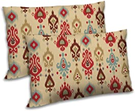 RADANYA Damask Printed Pillow Cover Set of 2 Rectangular Polyester Drawing Room Cushion Case 12x18 Inch
