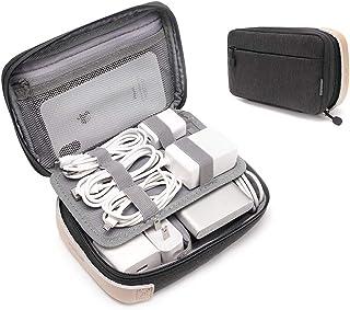 pack all ガジェットポーチ トラベルポーチ アクセサリーケース ケーブル モバイルバッテリー 充電器 SDカード USBコード アダプター 旅行 出張 小物入れ 収納ポーチ(ブラック)
