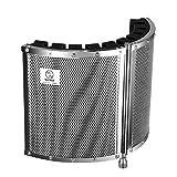 """Neewer 折り畳み式マイク遮音シールド 軽量合金 音響フォーム、取り付けブラケットおよびネジ付き 5/8""""スレッド付きマイクスタンドに対応"""