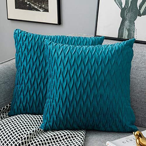 Yamonic Fundas de cojín de 2 Piezas 50x50cm Decoración Almohada Caso de la Cubierta Decorativo para Sofá Cama en Casa, Turquesa