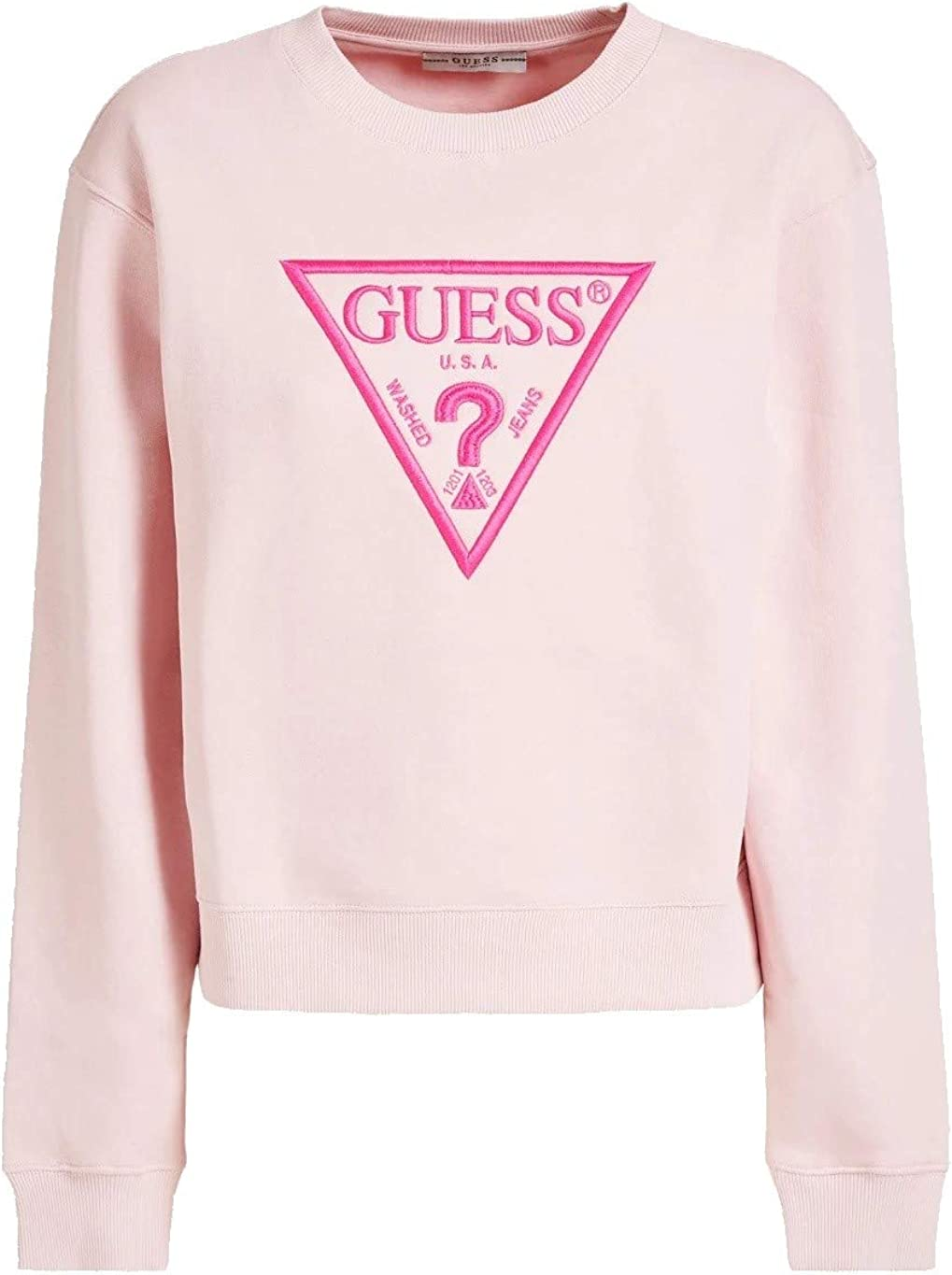 Red Guess Felpa Basic Fleece Donna Colore Rosa Peony