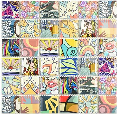 Keramik Mosaik POP Wand Boden Küche Dusche Bad Fliesenspiegel|WB14-1606|1Matte