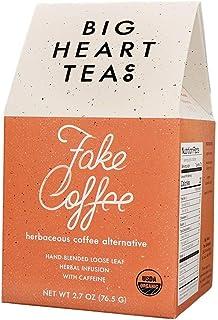 Big Heart Tea - Fake Coffee, Organic Loose Leaf Tea, Herbal Infused, Small Batch, All-Natural Caffeine, Raw Cacao Tea, Cof...
