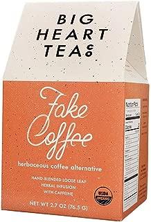 Big Heart Tea - Fake Coffee, Organic Loose Leaf Tea, Herbal Infused, Small Batch, All-Natural Caffeine, Raw Cacao Tea, Coffee Alternative, Enjoy Hot or Cold (Herbaceous Coffee Alternative, 2.7 oz)