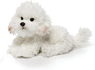 DEMDACO Sitting Large Bichon Frise Dog Children's Plush Stuffed Animal Toy