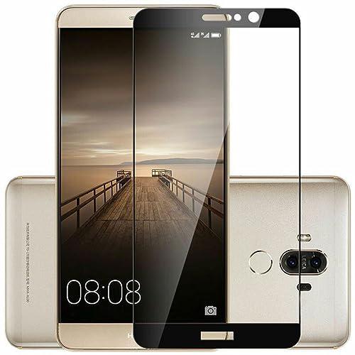Novago Film Protection d'écran Huawei Mate 9en Verre trempé coloré, Verre trempé, Couvre Tout l'écran du téléphone, Noir (Noir) - VerreNoirMate9Fr