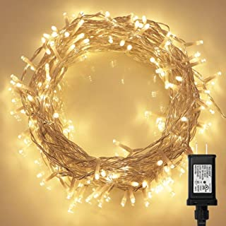 Koopower 200 LED Indoor String Light with Remote and Timer on 69ft Clear String (8 Modes, Dimmable, Low Voltage Plug, Warm White)
