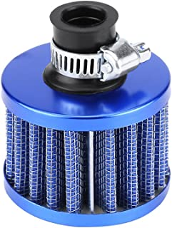 Auto Pilz Luftfilter, 13 mm Universal Luftfilter Auto Luftansaugfilter für Roller Atv Dirt Pit Bike Motorrad Kurbelgehäuse Vent Abdeckung Entlüftung(blau)
