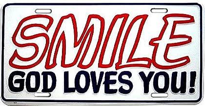 Signs 4 Fun SLJ53 Smile God Loves You License Plate
