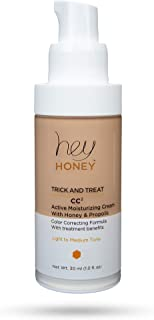 Hey Honey Active Moisturizing Color Correcting Cream with Honey and Propolis Trick and Treat CC² in Light To Medium, 1.0 Fl Oz