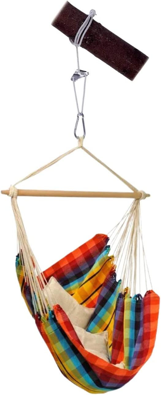 Super special price BYER OF OFFicial shop MAINE Hanging Hammock Chair Smart Rope Rainbow Hamm and