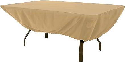 Classic Accessories Terrazzo Rectangular/Oval Patio Table Cover, Sand, 58242-EC