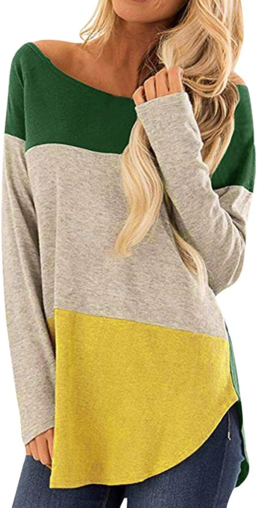 Misaky Women's Long Cheap super special price Sleeve Tie Ladies Casual Holid Popular overseas Tops Pullover