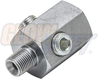 GlowShift 1/8 BSPT Male to 1/8-27 NPT Female Hex Universal Sensor Thread Adapter Reducer
