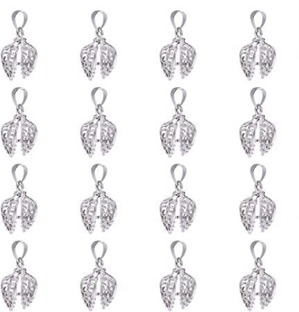 Sterling Silver Clip Pinch Bails 12x4mm Jewellery Findings All Platings