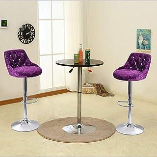 $73 » N/P Barstools Set of 2 Leather Adjustable Bar Stools Counter Height Swivel Stool