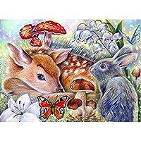 漫画の鹿-大人のための1000個のジグソーパズル世界的に有名なジグソーパズル、家族のためのパズルセット、教育ゲーム、子供のための脳チャレンジパズル子供の日の贈り物