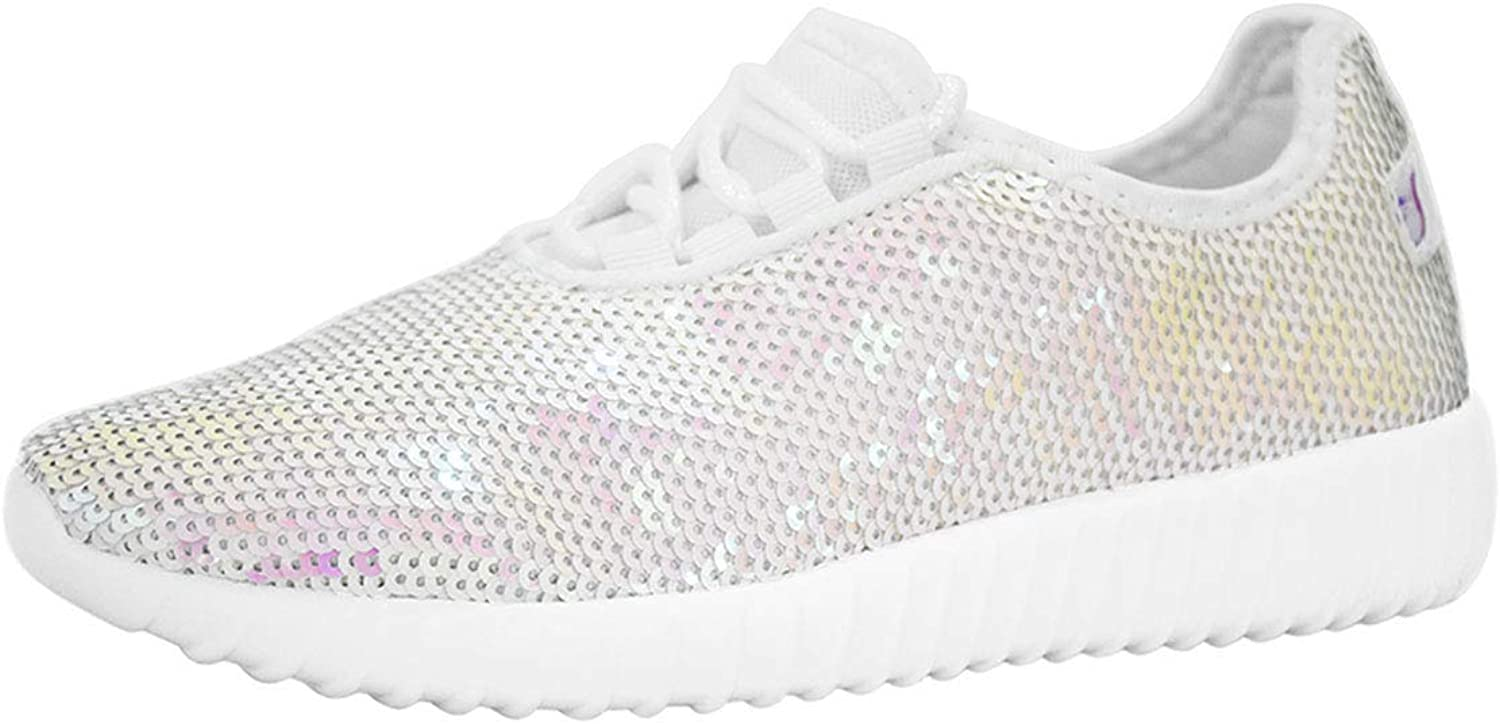 Lucky Step Ladies Fashion Sneakers for Spring gold Reversible Sequin shoes for Women - Sparkly and Eye Catchy