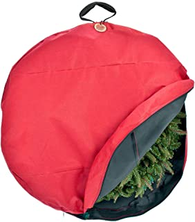 Santa's Bags [36 Inch Wreath Storage Container] - for Christmas Wreath up to 36 Inches in Diameter | Bag Hooks Directly to Your Wire Wreath Frames to Prevent Sagging and Deformed Wreaths (36-Inch)
