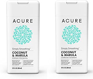Acure Organics Coconut Hair Straightening All Natural Shampoo and Conditioner...
