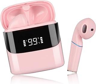 (2021 Nuevo) Audifonos Bluetooth Inalambricos, Sendowtek Mini in-Ear Auriculares Inalambricos con Control Táctil y LED Pan...