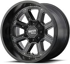 MOTO METAL MO984 SHIFT Matte Gloss Black Inserts Wheel Chromium (hexavalent compounds) (18 x 9. inches /5 x 110 mm, -12 mm Offset)
