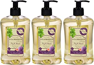 A La Maison Liquid Soap, Fig & Basil, 16.9 fl oz Pack of 3