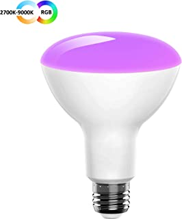 Innonly BR30 Smart Light Bulb,Tunable White 2700K-9000K,Wi-Fi,9W(80W Equivalent),Flood LED Lamp Works with Alexa,Google Assistant,IFTTT,Color Changing and Dimmable, No Hub Required,720 Lumen E26 Base