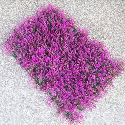 Conjugal Bliss 1PC Plastic Grass 308 Head Purple Lavender Straw Turf Artificial Lawn Rug Family Balcony Garden Hotel Office Party Wedding Venue Decoration Photography Props Décor (purple)