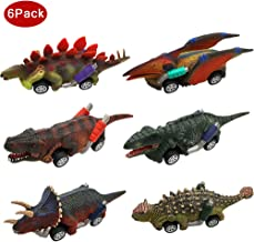 Dinosaur Car Toys for 2-10 Year Old Boys Girls, Pull-Back Dinosaur Cars Toys Set Dinosaur Birthday Party Supplies Favors for Kids Toddlers Boys Girls Animal Vehicles dinosaur party favors 6 Pack