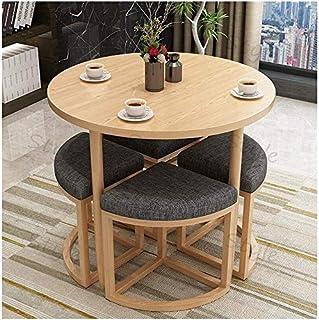 مجموعة طاولة طعام أنيقة مكونة من 4 كراسي، أثاث متين للمنزل والمطبخ، وموفر للمساحة (اللون: B)