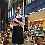 Pixnor BBQ Grillschürze Küchenschürze Mit Taschen Für Männer Schwarz - 4