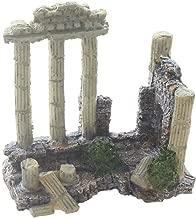 Emours Aquarium Decoration Fish Tank Landscape Ornament Vintage Ruins Roman Column