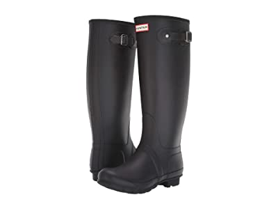 Hunter Original Tall Wide Leg Rain Boots (Black) Women