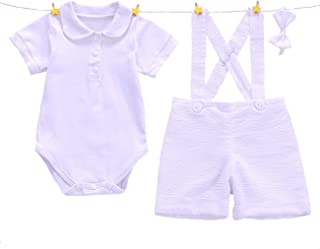 White Baptism Suits for Baby Boy Christening Gown Boys