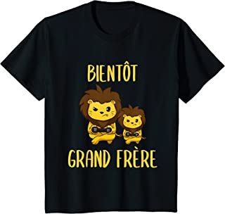 Enfant Bientôt Grand Frère Liones T-Shirt