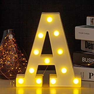 YOUZONE LED Marquee Letters LED Letter Lights Alphabet Light Up Sign Decoration Letters A - Z Symbol & (A)