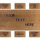 doormatsonline Felpudo Personalizado grabada con láser 80cmx50cm (añadir su Propio Texto)