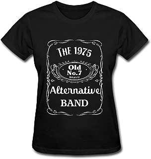 Duanfu The 1975 Alternative Band Logo Women's Cotton Short Sleeve T-Shirt