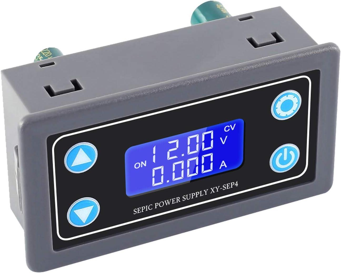 Icstation Buck Boost Converter DC 5.0V-30V to 0.5V-30V Step Up Down Supply Module Voltage Regulator Support Over-Charge /Current/ Voltage/ Short-Circuit Protection