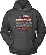 American Grown With Norwegian Roots Hoodie
