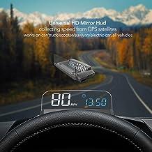 VJOYCAR R1 HUD GPS Speedometer Universal 3D Head Up Display Digital Speed MPH Overspeed Alarm Voltage Windshield Projector...