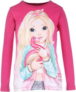 Top Model Pullover Top for Girls - Fuchsia 8 - 9 Years (4022158364182)