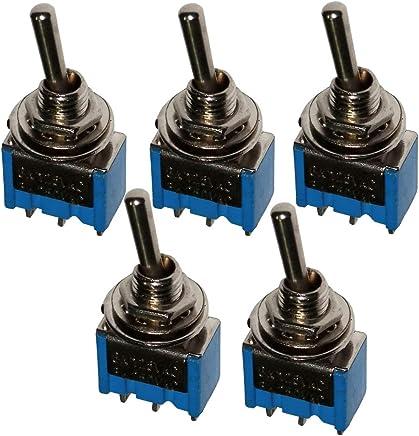 2 posiciones C10772 AERZETIX Interruptor conmutador basculantes de boton SPST ON-OFF 20A//12V