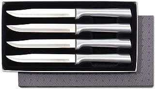 Rada Cutlery S55 4-Piece Utility Steak Knife Set, Aluminum Handles