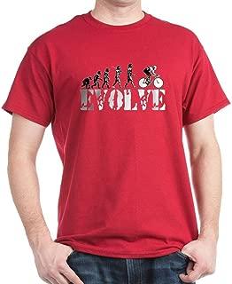 CafePress Bicycling Cyclists Evolution Cotton T-Shirt