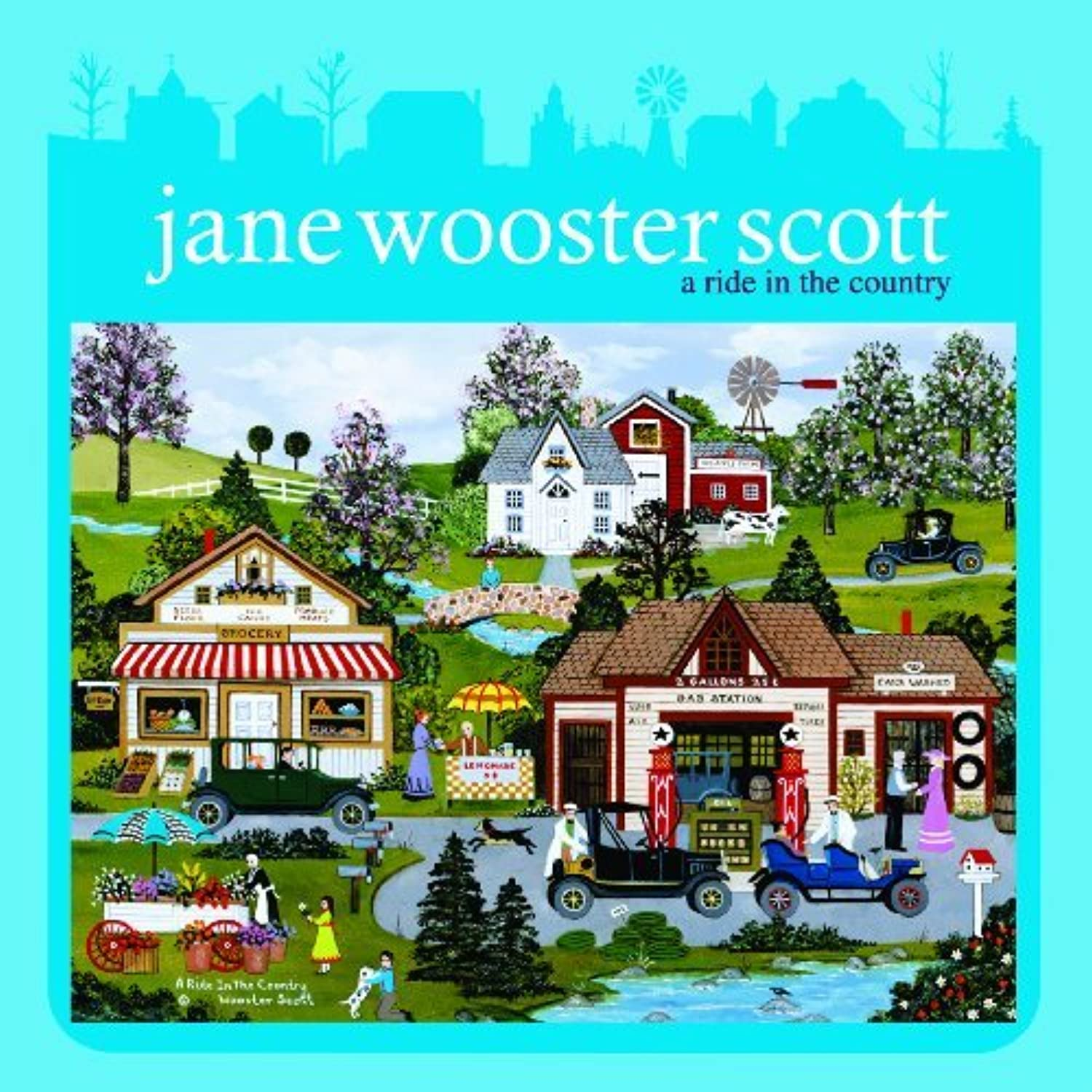 Jane Wooster Scott Keepsake Tin - A Ride In The Country by Ceaco