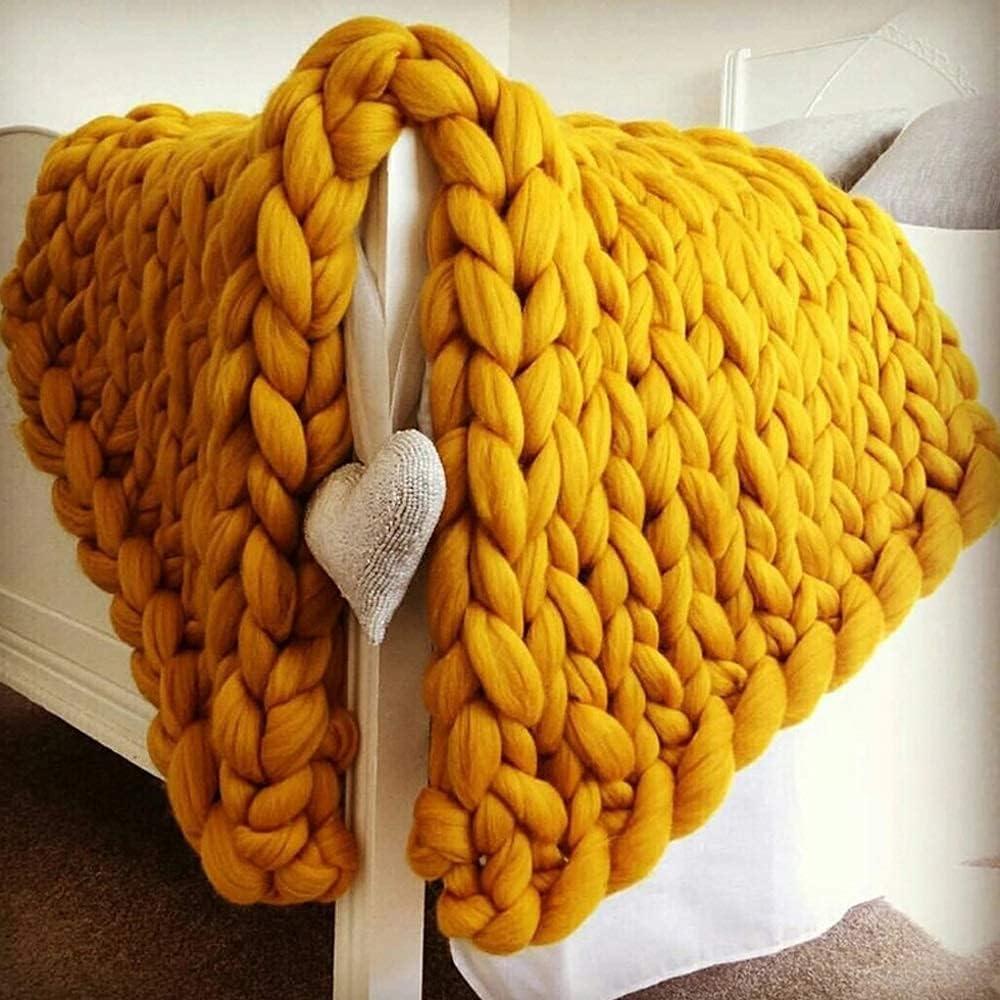 Giant Knit Blanket Chunky Nap Handmade Bla Ranking TOP13 Very popular Knitting