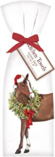 Mary Lake Thompson Holiday Horse with Wreath Towel Set