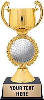 Crown Awards Personalized Golfball Trophy, 7.25